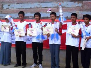 Juara pertama sampai keenam KRAD 2010